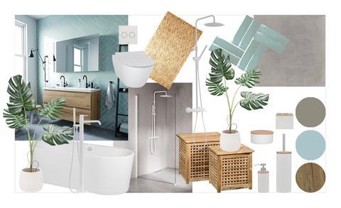 Inspiratie voor een Scandinavische badkamer