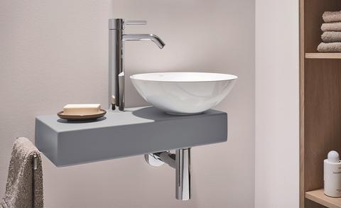 Waskommen in de toiletruimte