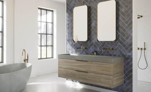 Trend: kleur in de badkamer