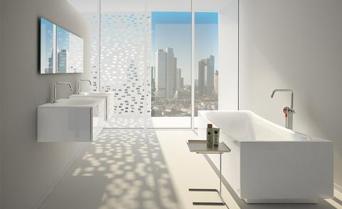 Witte badkamers