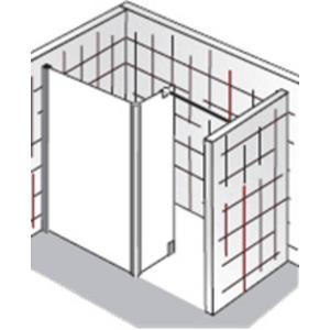 HSK Walk-In Atelier Inloopdouche met vast zijpaneel 100+30x200cm Chroom/Grijs glas