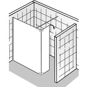 HSK Walk-In Atelier Inloopdouche met draaibaar zijpaneel 120+35x200cm Chroom/Grijs glas