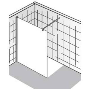 HSK Walk-In Atelier Inloopdouche 180x200cm Chroom/Grijs glas