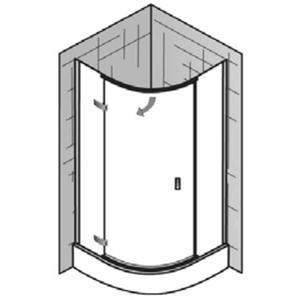 Ben Martino II Douchecabine Kwartrond 90x200cm Chroom / Helder Glas