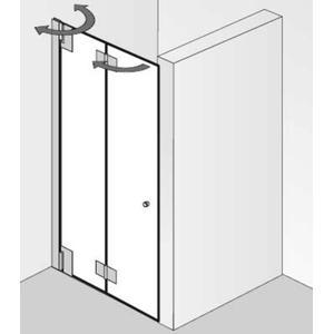 Ben Futura Vouwdeur voor nis 100x200cm Chroom/Helder glas