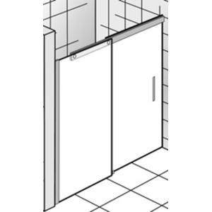 Ben Futura Schuifdeur 2-delig voor nis 160x220cm Chroom/Grijs glas