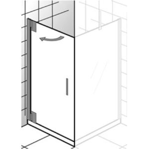 Ben Futura Draaideur 90x200cm Chroom/Grijs glas