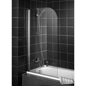 Saqu Viloma Badvouwwand 80x140cm Chroom / Helder Glas