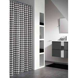 Sealskin Douchegordijn Textiel Seamless 200 x 180cm Zwart