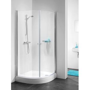 Get Wet by Sealskin C105 Douchecabine Kwartrond met draaideur 90x90x195cm Glanzend chroom/Helder glas
