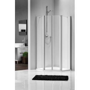 Get Wet by Sealskin C205 Douchecabine Vijfhoek met draaideur 90x90x195cm Mat zilver/Helder glas