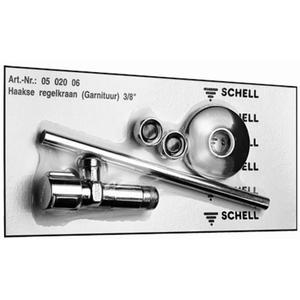 Schell hoekstopkraan met pijpje 3/8 inch x10mm klem chroom