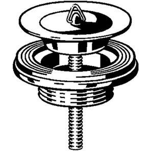 Viega Project wastafelplug 1 1/4 inch x 65 Chroom