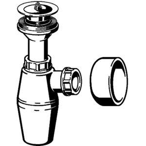 Viega Project pvc plugbekersifon zonder muurbuis met roset Wit