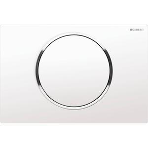 Geberit Sigma 10 drukplaat 1-knop tbv UP720/UP320 glans wit/chroom/wit