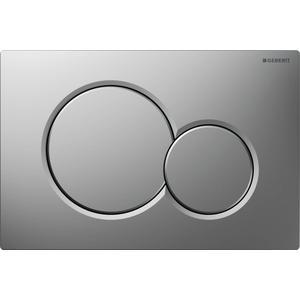 Geberit Sigma 01 drukplaat 2-knops tbv UP720/UP320 mat chroom