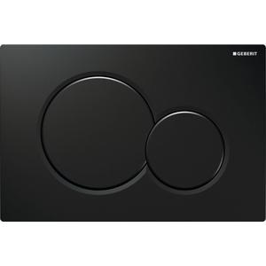 Geberit Sigma 01 bedieningsplaat tweeknops frontbediening Zwart (Glans)