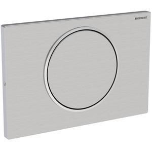 Geberit Sigma 10 drukplaat 1-knop met vergrendeling tbv UP720/UP320 rvs geborsteld