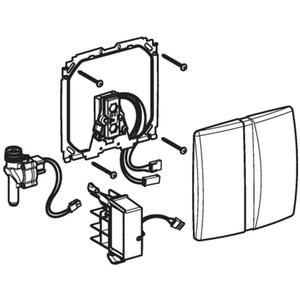 Geberit urinoir bedieningsplaat infrarood 230 v Mat Chroom
