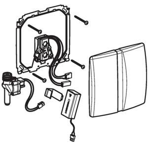 Geberit urinoir bedieningsplaat infrarood batterij Wit