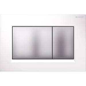 Geberit Sigma 30 drukplaat 2-knops tbv UP720/UP320 glans wit/mat-chroom/mat-chroom
