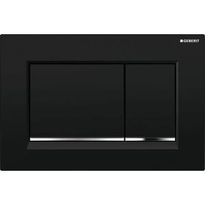 Geberit Sigma 30 drukplaat 2-knops tbv UP720/UP320 glans zwart/chroom/zwart