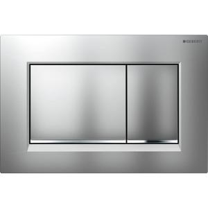 Geberit Sigma 30 drukplaat 2-knops tbv UP720/UP320 mat-chroom/chroom/mat-chroom