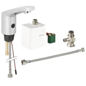 Geberit Type 185 automatische wastafelkraan met mengventiel Chroom