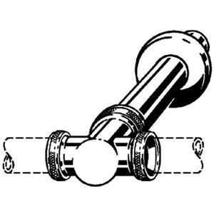 Viega t-stuk met muurbuis en roset 1 1/4 inchx32x250 Chroom