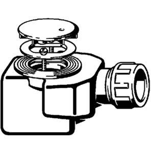 Viega Domoplex douchebakafvoer combinatie 70mm. as= 40 mm. klem Chroom