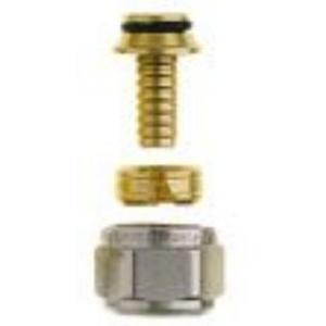 Heimeier klemkoppeling 3/4 inchmoer- 16x2mm. vpe Vernikkeld