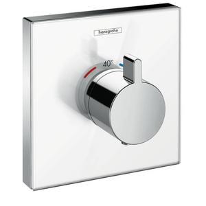 Hansgrohe ShowerSelect Glass afbouwdeel inbouwthermostaat Highflow Wit/Chroom