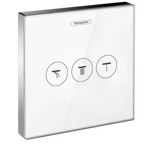 Hansgrohe ShowerSelect Glass afbouwdeel inbouw stopkraan voor 3 functies Wit/Chroom