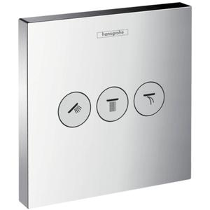 Hansgrohe Showerselect afdekset stopkraan met 3 stopfuncties Chroom