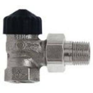 Heimeier radiatorafsluiter haaks 1/2 inch Vernikkeld