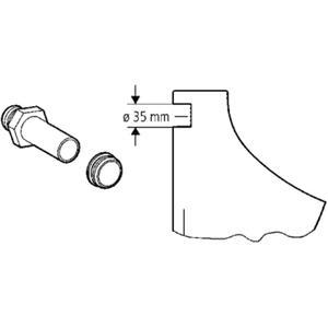 Grohe urinoir inlaat verbinder voor inb.urinoirspoeler