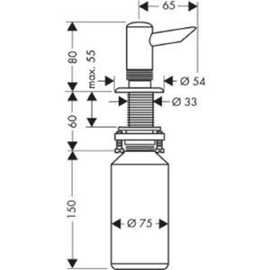 Hansgrohe Universeel zeepdispenser 300 ml voor bladmontage Chroom