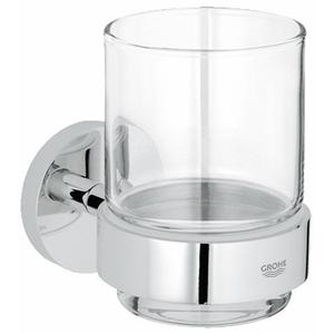 Grohe Essentials glashouder met glas Chroom