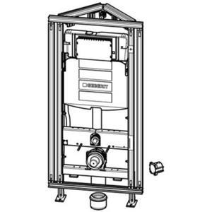 Geberit GIS Easy sigma hoekmontage inbouwreservoir h120 cm b.60cm