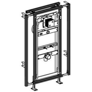 Geberit GIS Easy urinoir element h120 breedte verstelbaar 60-95 cm.