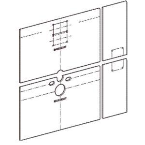 Geberit GIS Easy gipsplaat v/toiletmodule planchetbediening.m/schr.