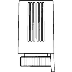 Heimeier zoneventiel 24v m/eindcontact/stroomloos gesloten