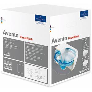 Villeroy & Boch Avento pack wandcloset directflush inclusief softclose zitting wit