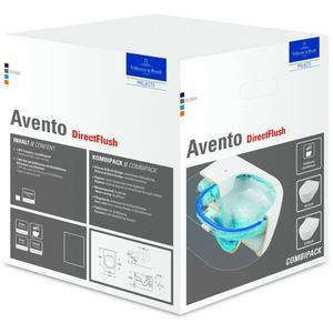 Villeroy & Boch Avento pack wandcloset directfl.slimseat softc+quickr.c+ Wit