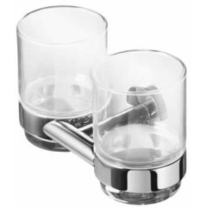 Geesa Nemox dubbele glashouder met 2 glazen Chroom