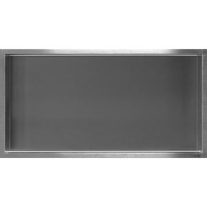 Looox Box inbouw nis 60 x 30 cm. RVS Geborsteld