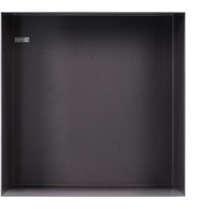 Looox Box in-opbouwnis 30 x 30 cm. Antraciet