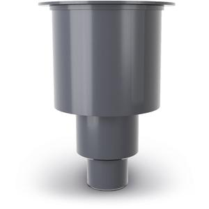 Easydrain m2 sifonhuis-onderuitloop met waterslot 50 mm RVS