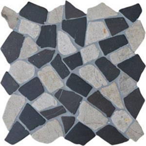 Mozaïek Stone Line Palladiana 30x30 cm White Flat / Silva Grey T129 1 m²