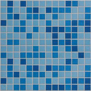 Mozaïek Tebe Vital Naturkeramik 30x30 cm Glass Mosaic Blue Mix Gme-21 1 ST